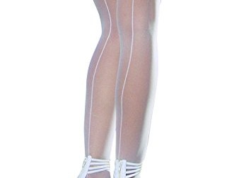 Dreamgirl Women's Sheer Thigh High with Backseam…