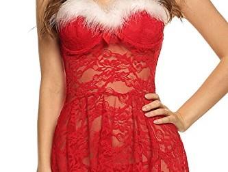 Avidlove Womens Lingerie Red Christmas Babydolls…