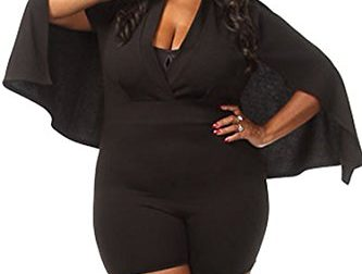 VamJump Women Plus Size V Neck One Piece Bodycon…